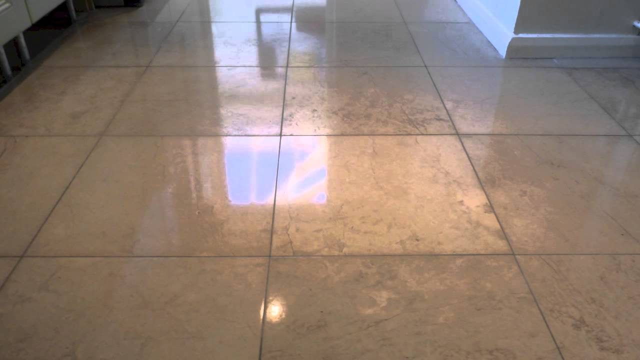 Polished Limestone Floor Restoration Berkhamsted