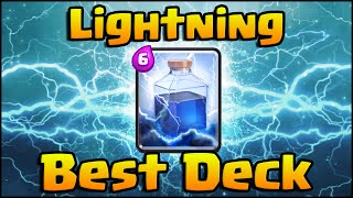 Clash Royale - Best Lightning Decks | Hog Rider Lightning, Giant Lightning, Lava Hound Lightning