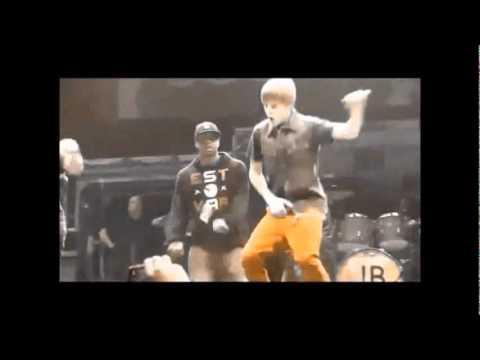 Justin Bieber dancing to Dynamite