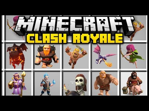 Minecraft CLASH ROYALE / CLASH OF CLANS MOD (Mod Showcase)