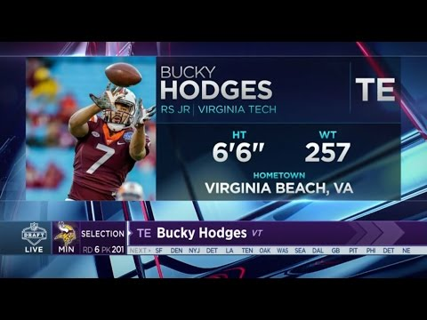 2017 NFL Draft Rd 6 Pk 201 | Minnesota Vikings Select TE Bucky Hodges