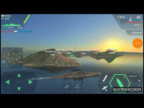 Repulse vs Fletcher Battle of Warships