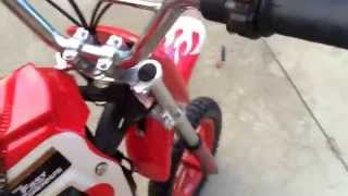 49cc mini dirt bike review / start up
