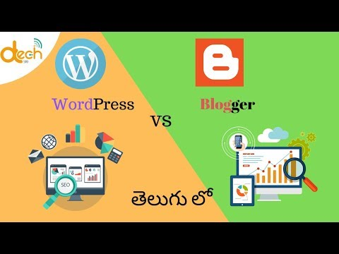 Bolgger VS WordPress    Which one is Best Blogging Platform ?    Telugu  