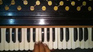 Learn Shabad Mera Dukh Kaate Koi On Harmonium