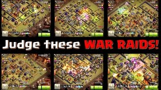 Clash of Clans - Judge the best WAR RAID! (they win $100)