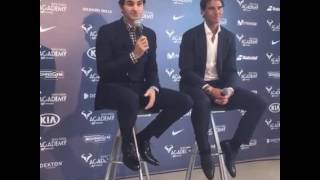 10/19/2016 Rafa Nadal and Roger Federer Press Conference at Rafa Nadal Academy