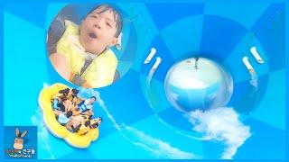 메가스톰 타고 꽃미남 되다?! 얼굴의 완성은 중력 ㅋㅋ ♡ 캐리비안베이 놀이기구 다이빙 물놀이 워터파크 Water Theme Park | 말이야와친구들 MariAndFriends