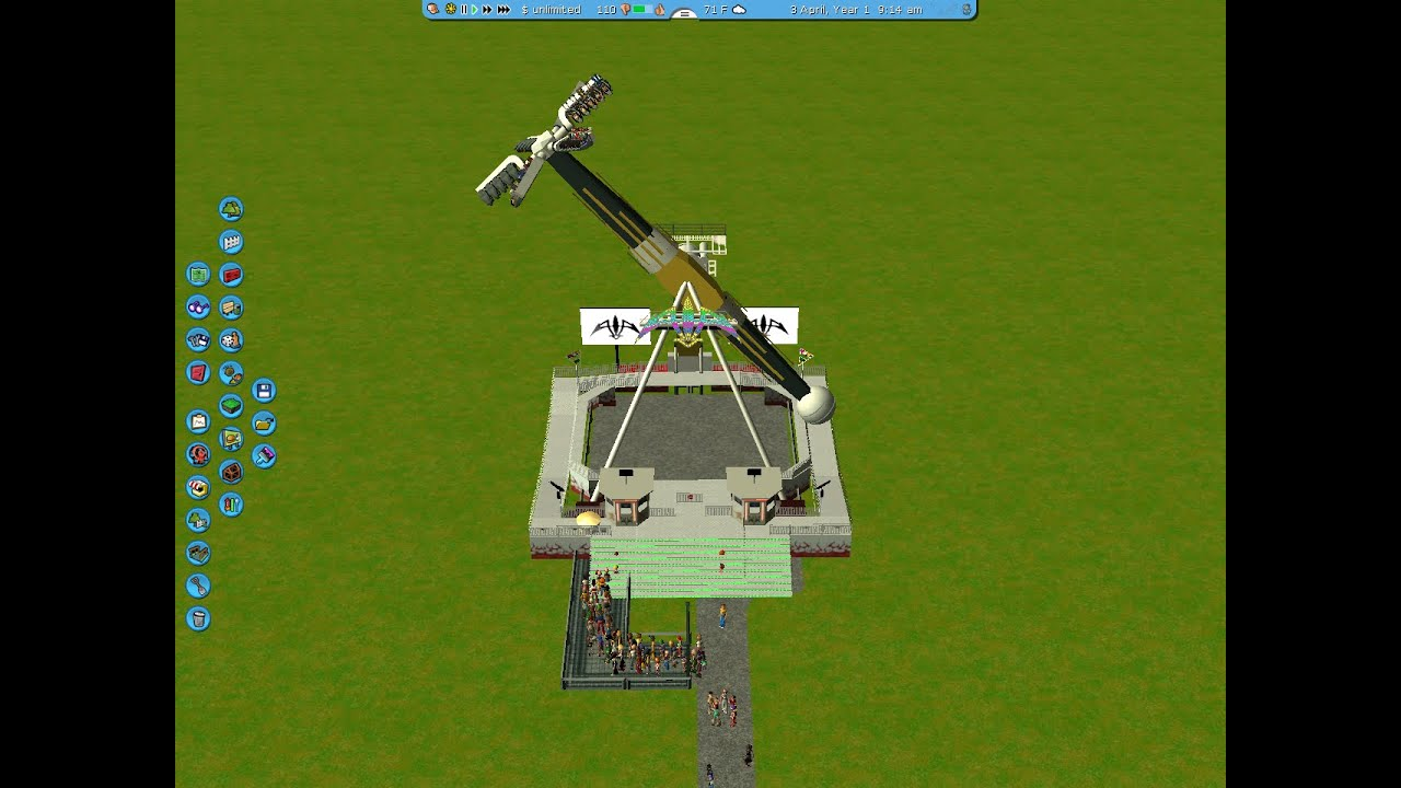 RollerCoaster Tycoon 3 Custom Flat Ride (Starshaper) With CSO DOWNLOAD  / RCT3 Custom Scenery