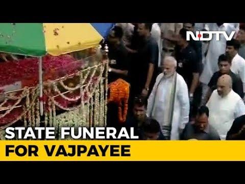 PM Modi Present As Atal Bihari Vajpayee's Funeral Procession Begins