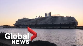 Coronavirus outbreak: Passengers cheer as cruise ship docks in Cambodia