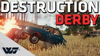 DESTRUCTION DERBY - Hilarious vehicle only+nades+melee game mode - PUBG