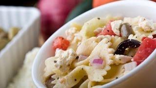 Greek pasta salad recipe easy