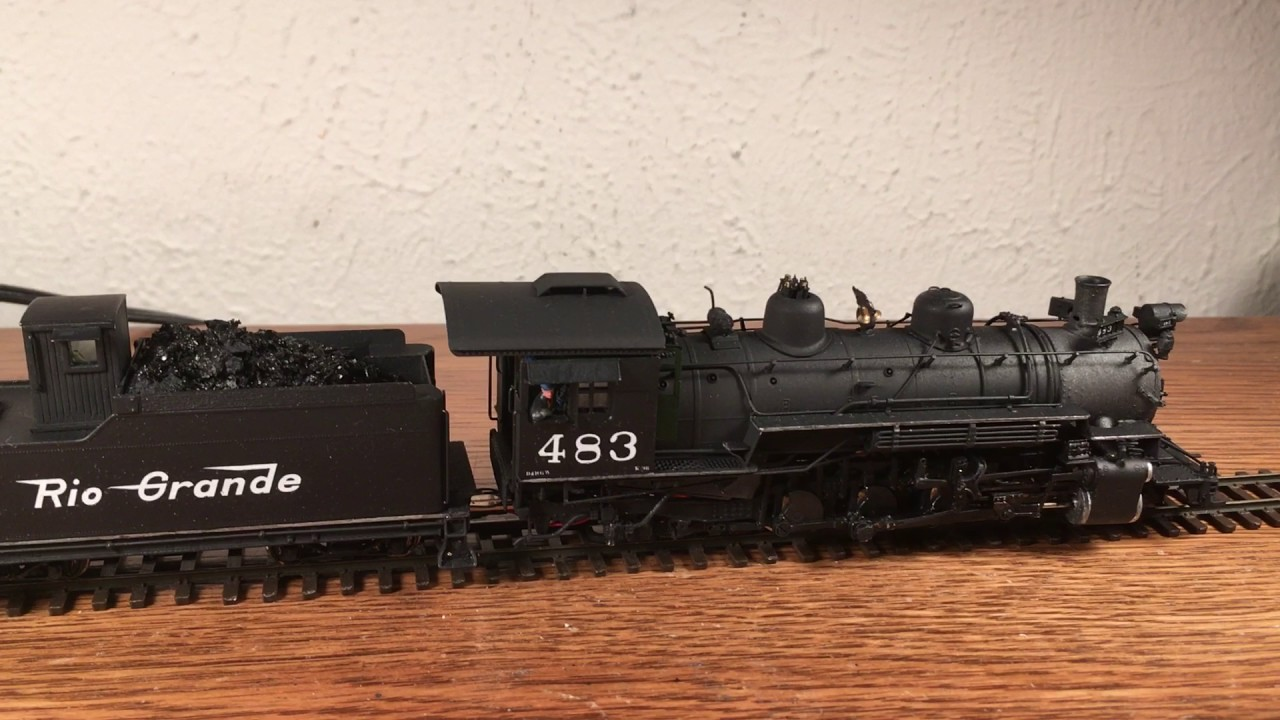 HOn3 K-36 D&RGW #483 Westside brass with DCC sound w ...