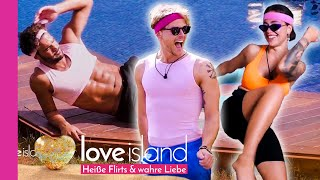 """Sexy Workout: """"Melissa hat einen Hüftschwung wie eine 🐍""""   Love Island - Staffel 3"""