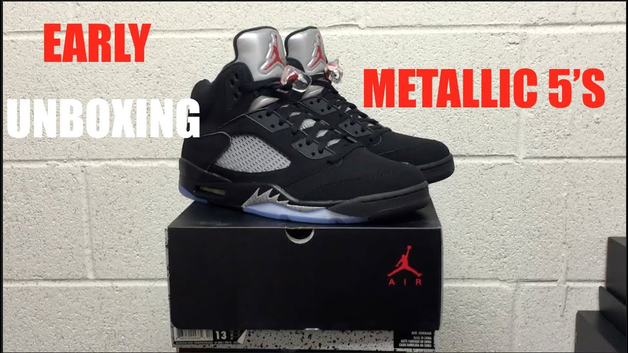 EARLY UNBOXING OF THE 2016 JORDAN METALLIC 5 S!!!! 3M CRAZY!!! - YouTube 6b7c0bcd3