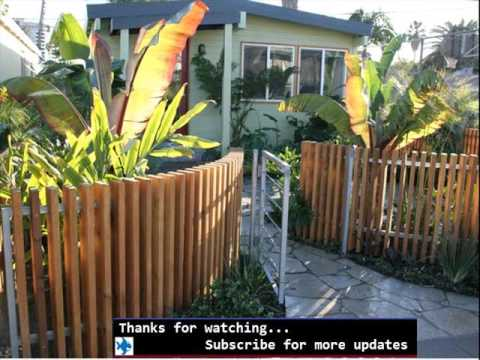 Decorative fences for front yards fences designs youtube for Small front yard ideas with fence