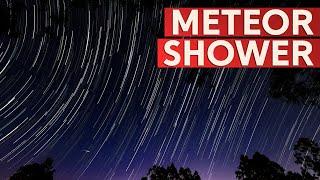 Meteor Shower - Shooting stars across the  night sky