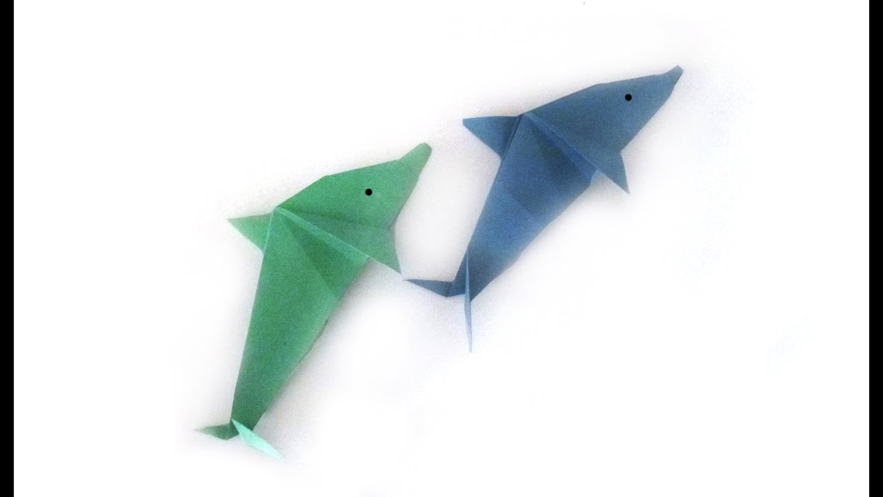 easy origami dolphin origami tutorial how to make an easy