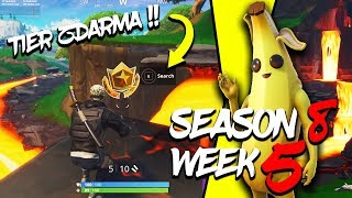 WHERE is the THIRD FREE TIER FOR SEASON 8 (Week 5)-Fortnite Battle Royale CZ/SK