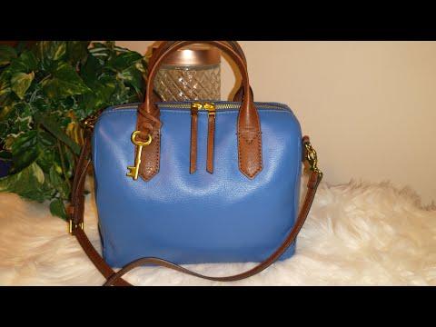 👜Fossil Fiona Satchel in Malibu Blue (Sku  ZB7268965)/  What's In My Bag (WIMB)!