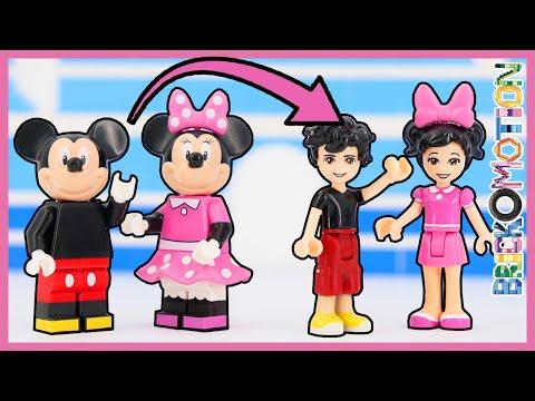 Mickey & Minnie Mouse As LEGO Friends Minidolls