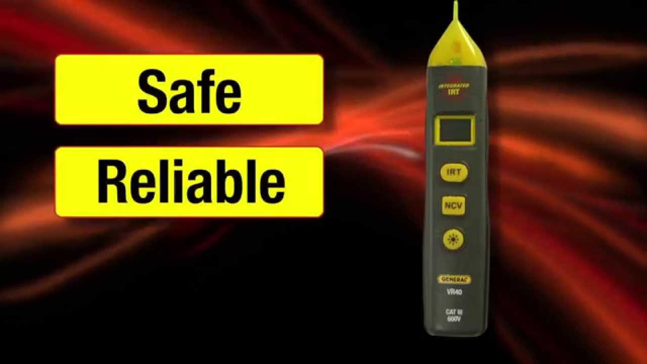 Vr40 Non Contact Voltage Detector Flashlight And 41 Irt Short Led Light Pocket Tester Version