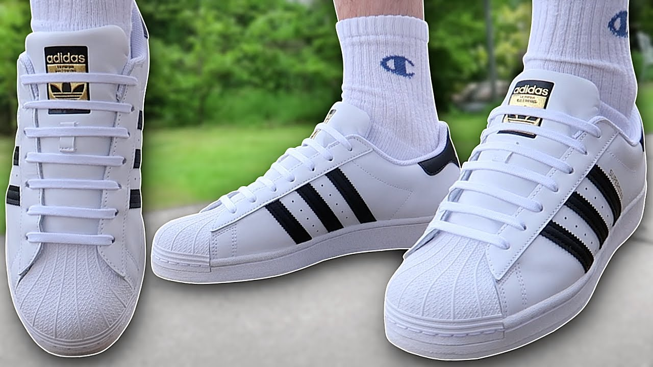 How To BAR LACE Adidas Superstar (THE