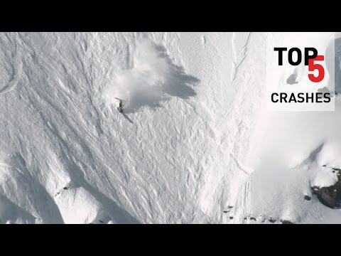 Top 5 Crashes on the Freeride World Tour