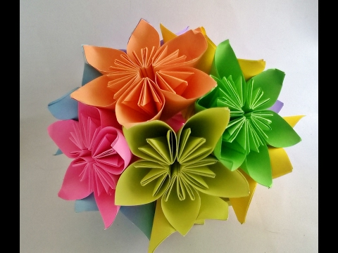How To Make - Kusudama Flower Ball  kusudama Flower Bouquet