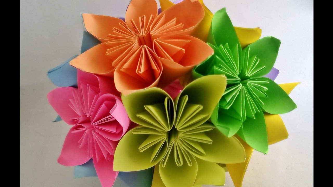 How to make origami kusudama flower step by step - How To Make Kusudama Flower Ball Kusudama Flower Bouquet Origami Flower Ball Craftastic