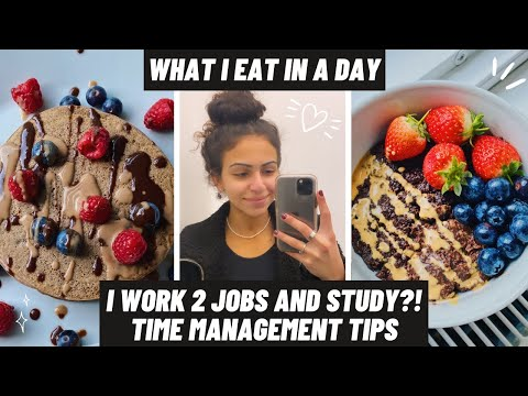 WORKING 2 JOBS AT UNI   Vegan Full Day of Eating   Day in the Life of a UCL Masters Student