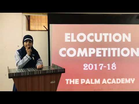 speech for elocution competition