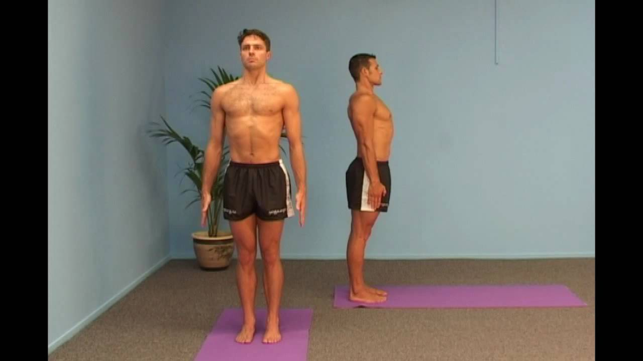 Image result for proper yoga mountain pose side view