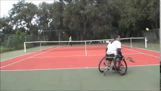 Practice Game Wheelchair tennis.