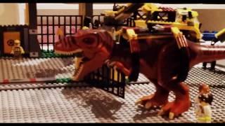 Dinosaur Lego display in progress for Brick Events Gold Coast 2013
