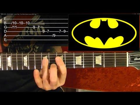 Guitar guitar tabs tv : BATMAN ( TV Show Theme ) Guitar Lesson - YouTube
