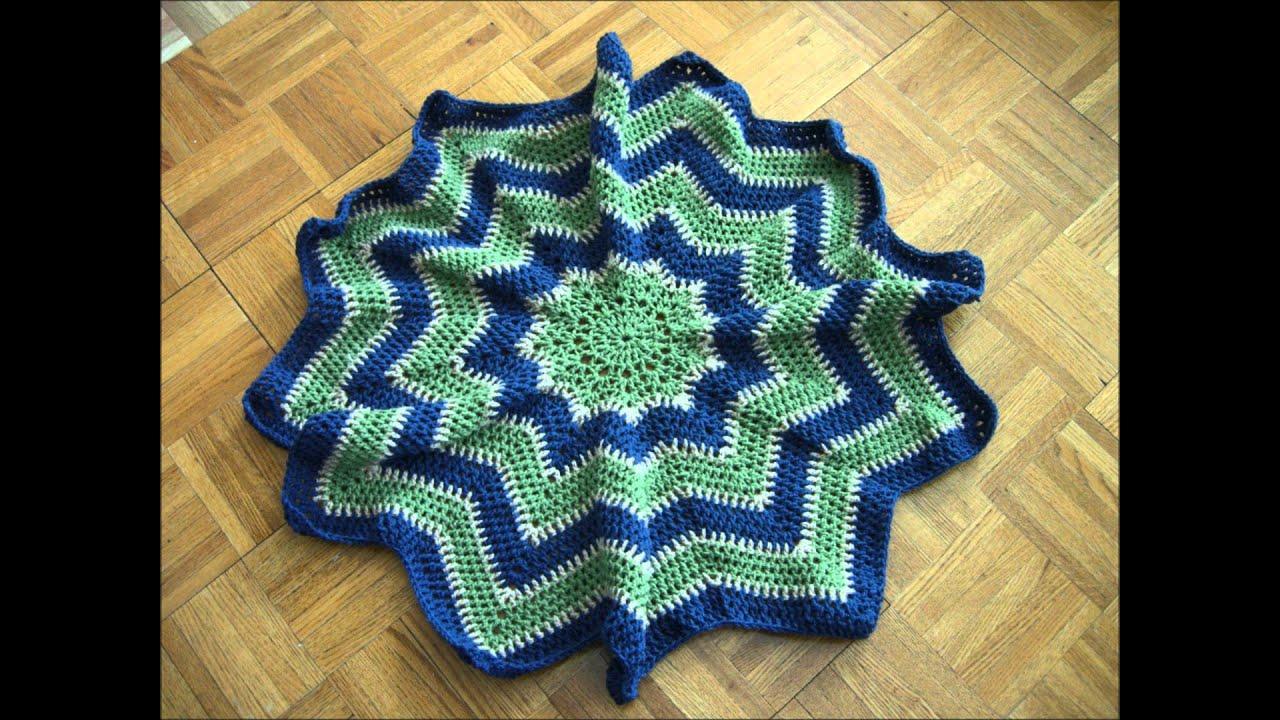 Krazy Kabbage - Crochet Star Blanket - YouTube