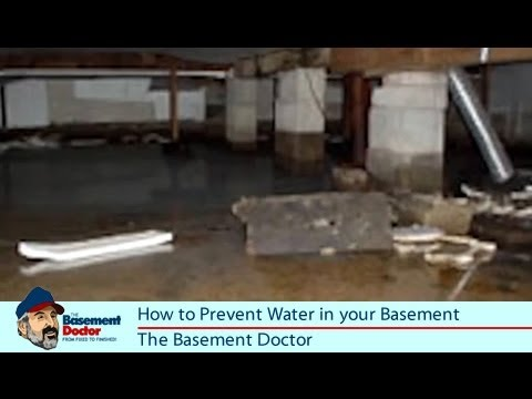 How To Prevent Water In The Basement U0026 Crawl Space | DIY Tips | Basement  Doctor Columbus OH   YouTube