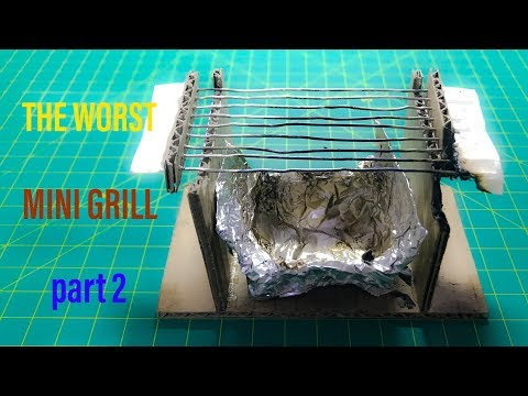 【DIY】mini BBQ Grill from cardboard and paper clips|part 2 | this a disaponinting work for me