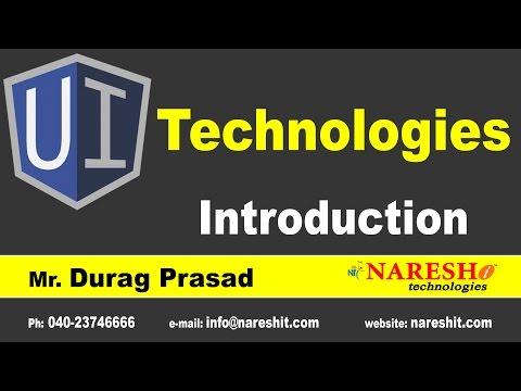 UI Technologies Introduction || Mr. Durga Prasad