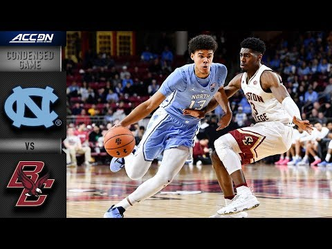 North Carolina Vs. Boston College -  Condensed Game | ACC Basketball 2018-19