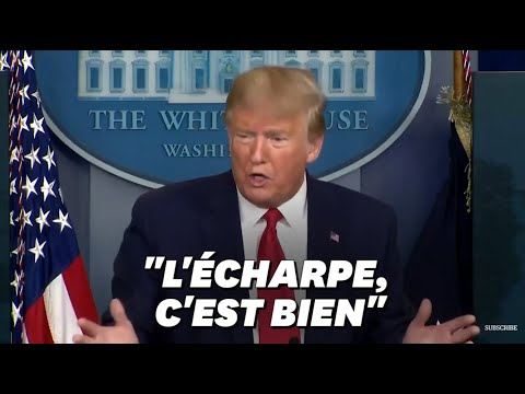 Coronavirus: Trump préconise l'écharpe face au manque de masques