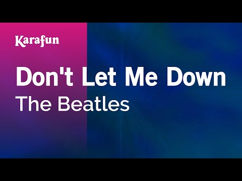 Karaoke Don't Let Me Down - The Beatles *