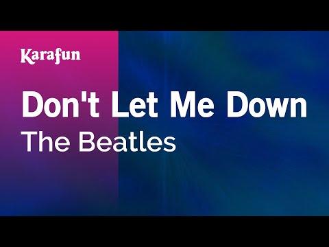 Karaoke Don't Let Me Down - The Beatles *