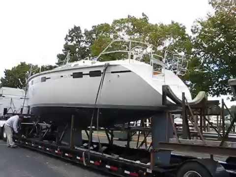 Hunter Legend 37.5 loaded for transport