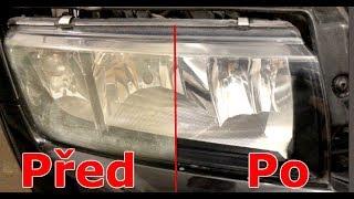 Jak rozleštit stará zašlá světla? Fabia 1 renovace světel.