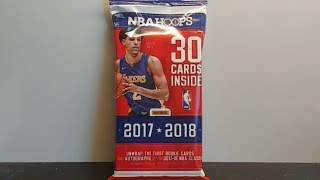 2017-18 Panini NBA Hoops Basketball cards retail jumbo rack/hanger pack break and review