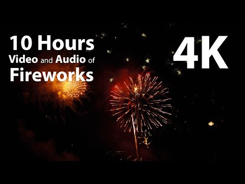 4K UHD 10 hours - New Year Fireworks Display - celebration, relaxation