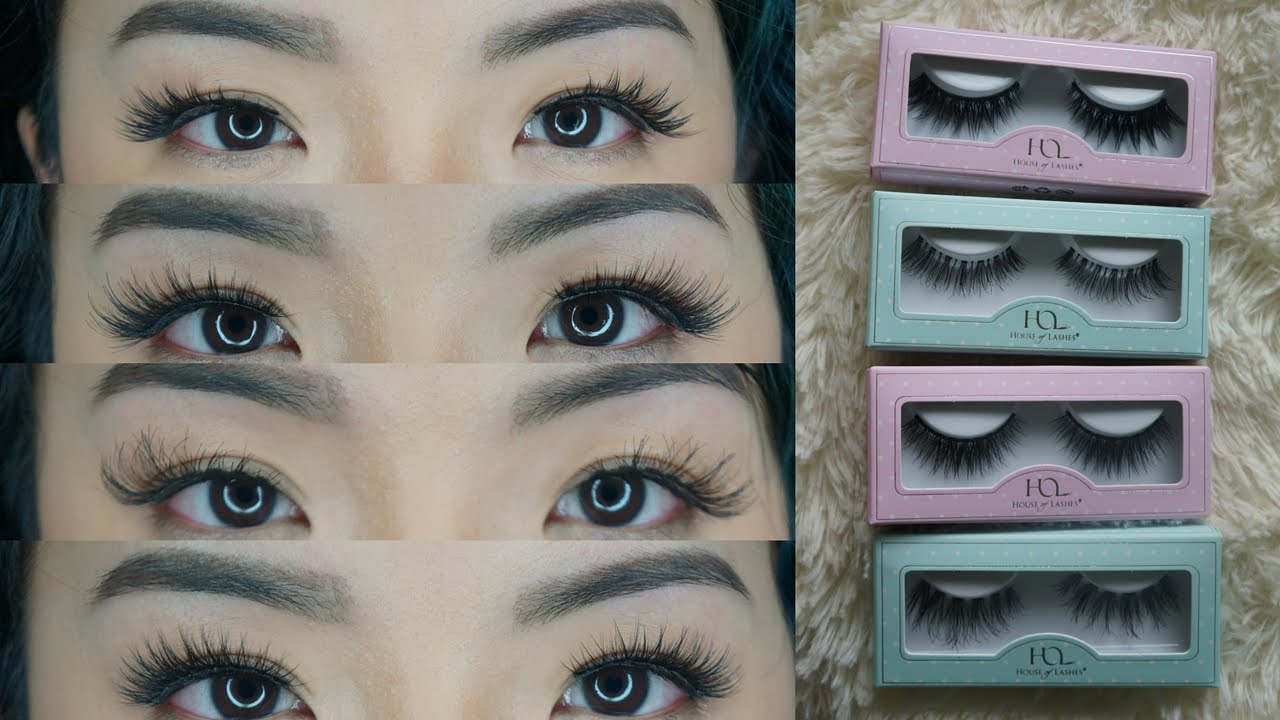 House Of Lashes Try On Review New Mini Collection Noir Fairy